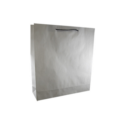 Picture of Large Deluxe White Kraft Paper Bag Print