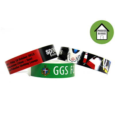 Picture of Full Colour Laser Printed Wristbands Loc