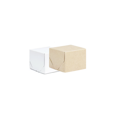 Picture of Baby Square Kraft Gift Box Natural or Wh