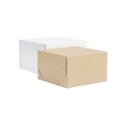 Picture of Small Square Kraft Gift Box Natural or W
