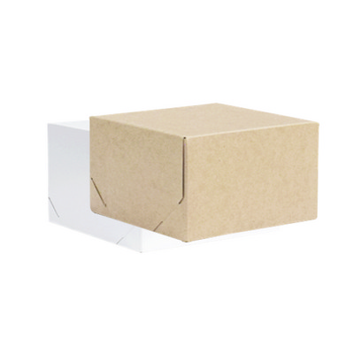 Picture of Midi Square Kraft Gift Box Natural or Wh