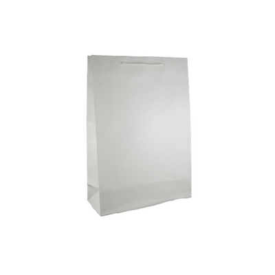 Picture of Large White Gloss Laminated Paper Bag Pr