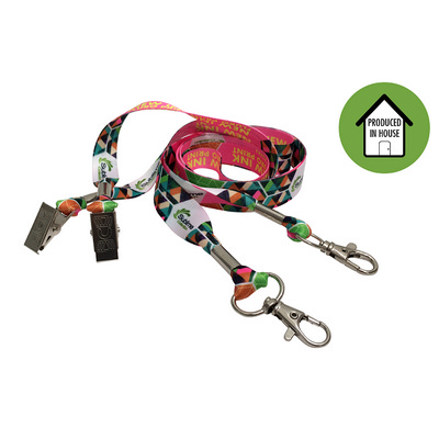 Picture of Fluro Print Lanyard Taurus 15mm Sublimat