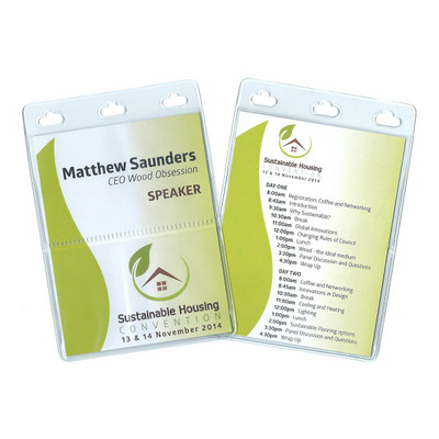 Picture of Large PVC Conference Name Tag Holder wit
