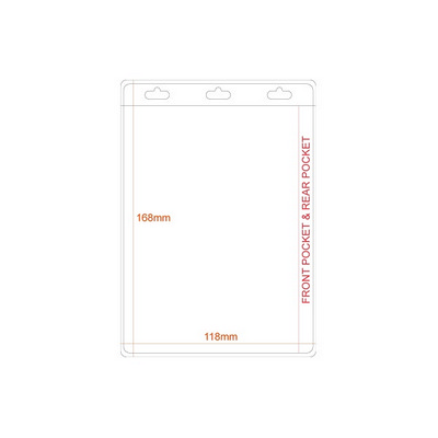 Picture of Large A6 Pocket PVC Holder - Double Side