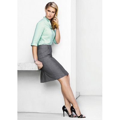 Picture of Ladies Panelled Skirt with Rear Split