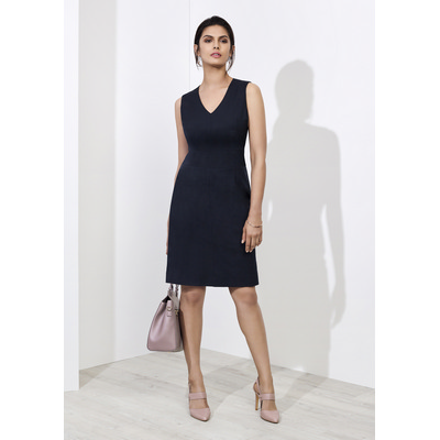 Picture of Ladies Sleeveless V Neck Dress