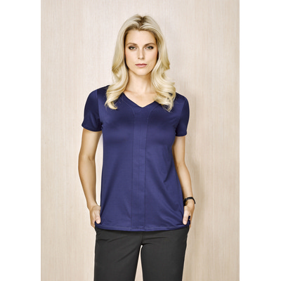 Picture of Advatex Ladies Mae Short Sleeve Knit Top
