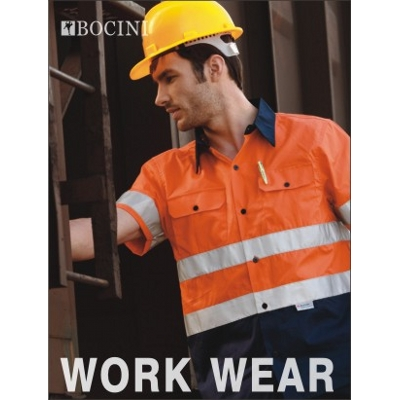 Picture of Unisex Adults Hi-Vis S/S Cotton Drill Sh