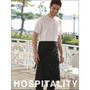 Polyester Drill Three Quarter Apron -Wit