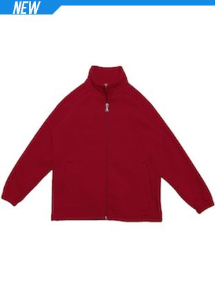 Picture of Unisex Adults Poly/Cotton Fleece Zip Thr