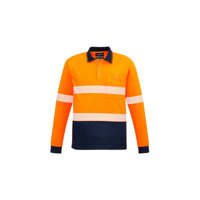 Picture of Unisex Hi Vis Segmented L/S Polo - Hoop