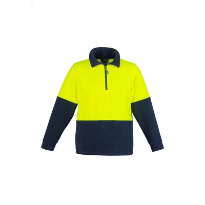 Picture of Unisex Hi Vis Half Zip Fleece Jumper