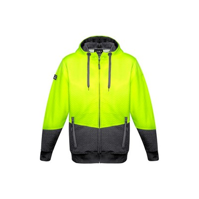 Picture of Unisex Hi Vis Textured Jacquard Full Zip