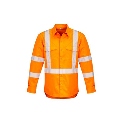 Picture of Mens Hi Vis X Back Taped Shirt