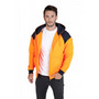 Mens Contrast Hi Vis Fleece With Zip