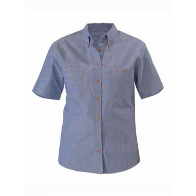 Picture of Womens Chambray Shirt -  Short Sleeve