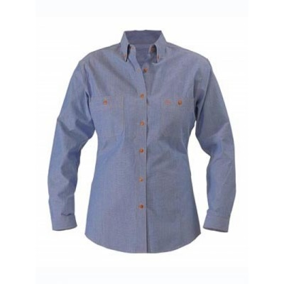 Picture of Womens Chambray Shirt  - Long Sleeve