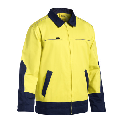Picture of Two Tone Hi Vis Cotton Drill Jacket W/Li