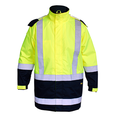 Picture of Taped Two Tone Hi Vis Rain Shell Jacket