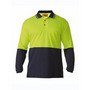 Two Tone Hi Vis Polo Shirt - Long Sleeve
