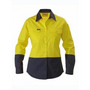 Womens Two Tone Hi Vis Drill Shirt - Lon