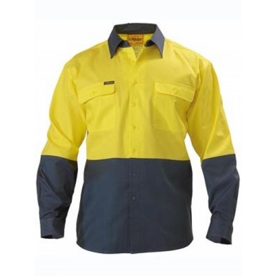 Picture of Two Tone Hi Vis Drill Shirt - Long Sleeve