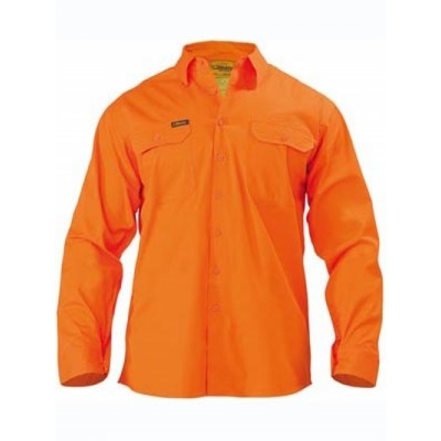 Picture of Cool Lightweight Hi Vis Drill Shirt - Lo