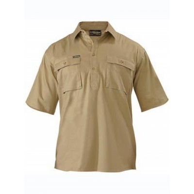 Picture of Closed Front Cotton Drill Shirt - Short