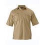 Closed Front Cotton Drill Shirt - Short