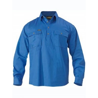 Picture of Closed Front Cotton Drill Shirt - Long S