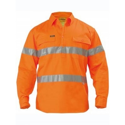 Picture of 3M Taped Hi Vis Closed Front Drill Shirt