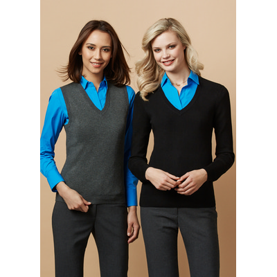 Picture of Ladies V-Neck Pullover