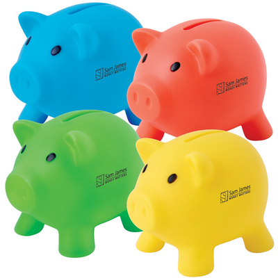 Picture of Pee Wee Pig PVC Coin Bank