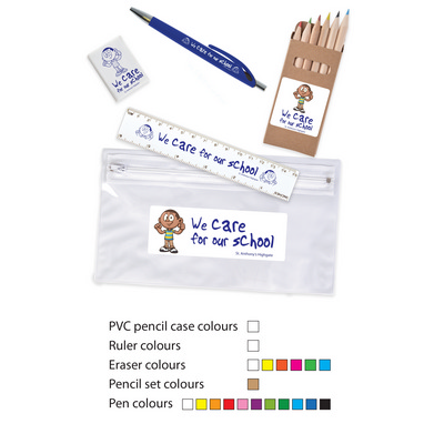 Picture of Stationery Set in PVC Pencil Case