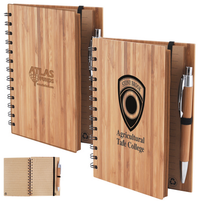 Picture of Bamboo Cover Notebook with Pen