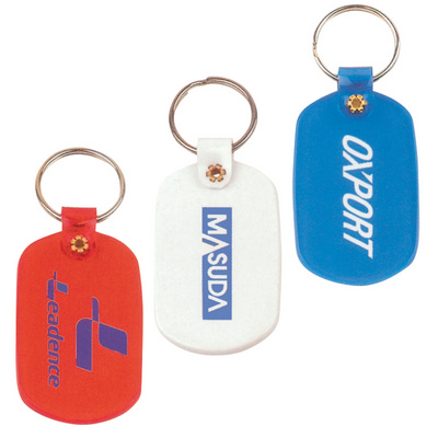 Picture of Oval Flexible PVC Keytag