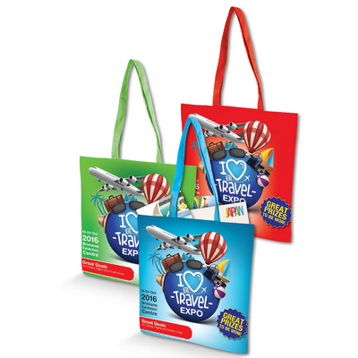 Picture of Cotton Tote Bag with Full Colour Design -170GSM