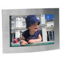Arc brushed silver photo frame