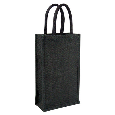 Picture of Jute wine bag - double