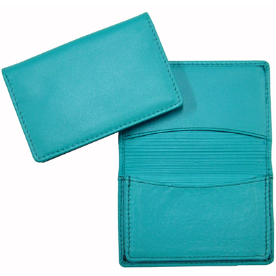 Picture of Premium Aqua Leather Card Holder