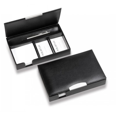 Picture of Executive Leather Desk Organiser with Si