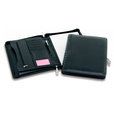 Picture of Premium Leather Ribbed Zip Compendium