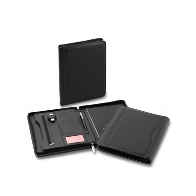 Picture of Executive Leather Zip Compendium