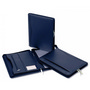 Superior Dark Blue Leather Zip CompendiumCompendiums, A4 Zippered Compendiums