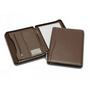 Superior Brown Leather Zip Compendium