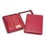 Superior Red Leather Zip Compendium