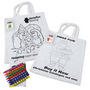 Colouring in Short Handle Cotton Tote Bagwith Crayons
