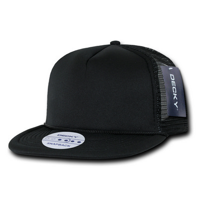 Picture of Solid Color Flat Bill Foam Trucker