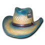Sea Breeze Raffia Cowboy Hat